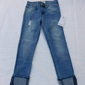 NEW HUDSON JEANS GIRLS CUFFED CROPPED JEANS